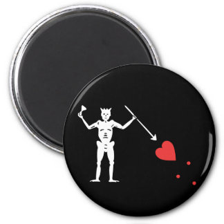 Blackbeard 2 Inch Round Magnet