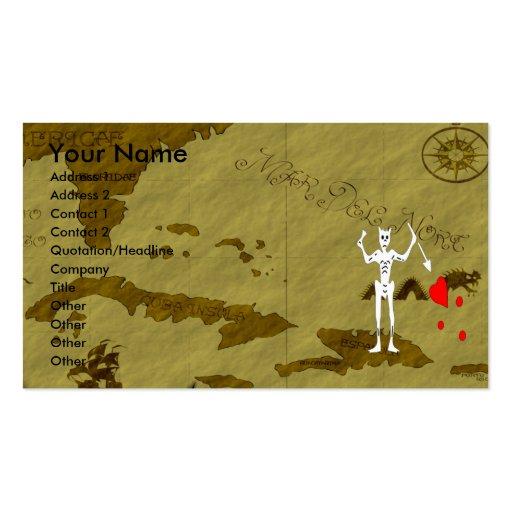 Blackbeard Map #10 Business Cards