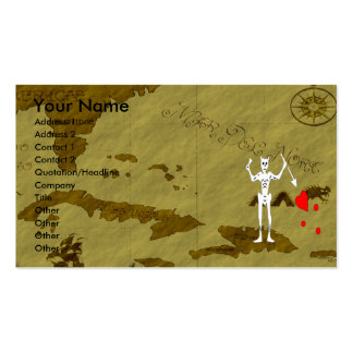 Blackbeard Map #10 Double-Sided Standard Business Cards (Pack Of 100)