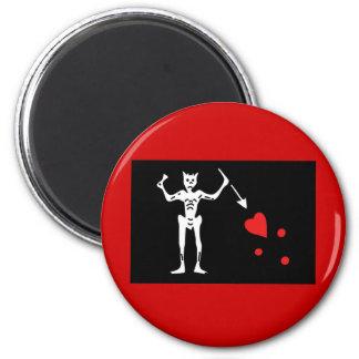 Blackbeard Pirate FLag Magnets