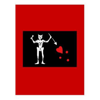 Blackbeard Pirate FLag Postcards