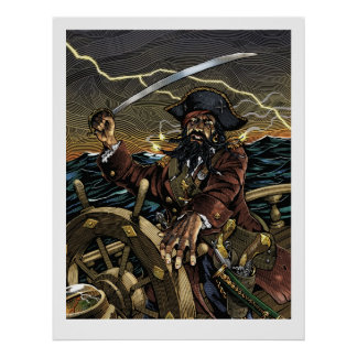 Blackbeard Pirate Poster