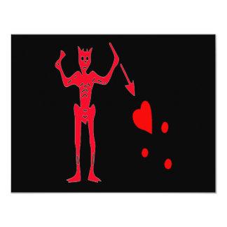 Blackbeard-Rojo Invitación
