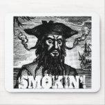 Blackbeard, Smokin'! Mouse Pad