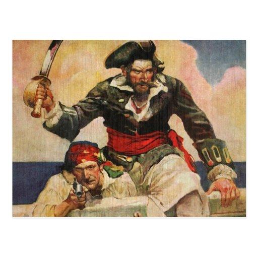 Blackbeard the Buccanneer Postcard