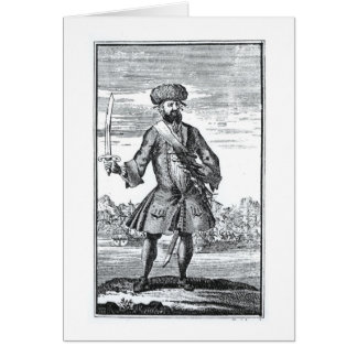 Blackbeard the Pirate, from 'A General History of Card