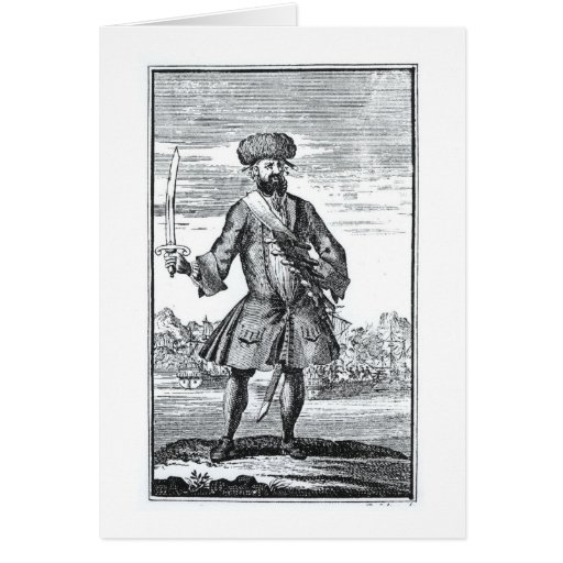Blackbeard the Pirate, from 'A General History of Greeting Cards