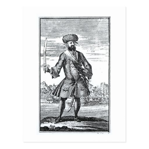 Blackbeard the Pirate, from 'A General History of Postcard