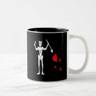 Blackbeard-White Two-Tone Coffee Mug