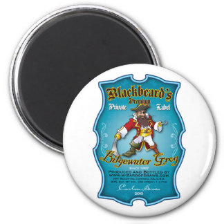 Blackbeard's Bilgewater Grog 2 Inch Round Magnet