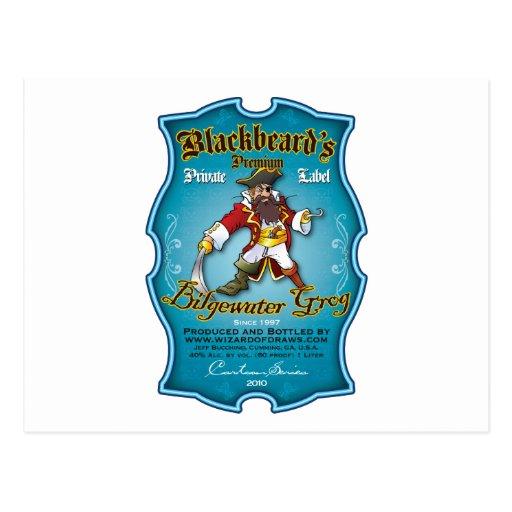 Blackbeard's Bilgewater Grog Post Card