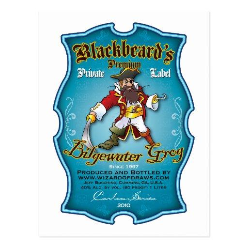Blackbeard's Bilgewater Grog Postcards