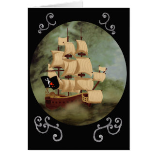 Blackbeard's Ship (Queen Anne's Revenge) Note Card
