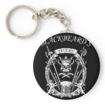 Blackbeard's Tavern Pirate Design Keychain