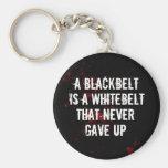 Blackbelt Basic Round Button Keychain