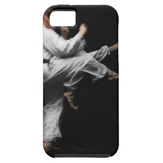 Blackbelt Doing a Front Kick iPhone 5 Cover