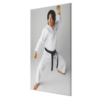 Blackbelt In An At Ready Stance Gallery Wrap Canvas
