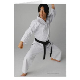 Blackbelt In An At Ready Stance Card