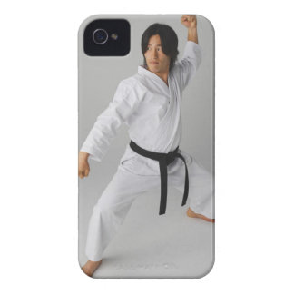 Blackbelt In An At Ready Stance iPhone 4 Covers