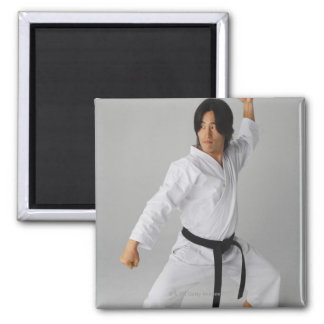Blackbelt In An At Ready Stance Refrigerator Magnet
