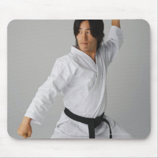 Blackbelt In An At Ready Stance Mouse Pad