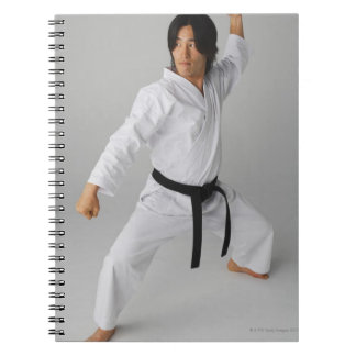 Blackbelt In An At Ready Stance Spiral Note Book