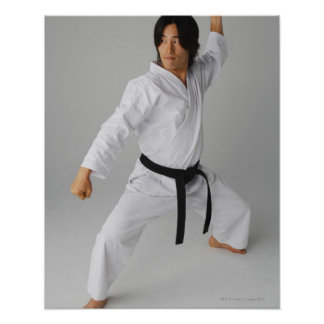 Blackbelt In An At Ready Stance Poster