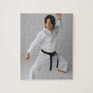 Blackbelt In An At Ready Stance Jigsaw Puzzles