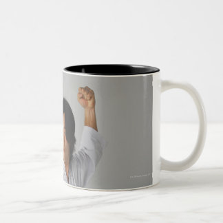 Blackbelt In An At Ready Stance Two-Tone Coffee Mug