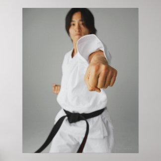 Blackbelt Punching Poster
