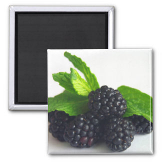 Blackberries and Mint 2 Inch Square Magnet
