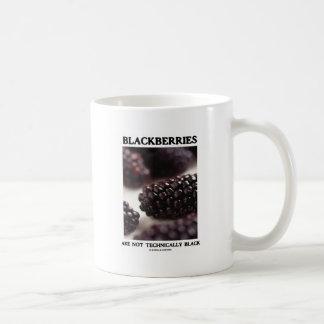 Blackberries Are Not Technically Black Food Humor Coffee Mug