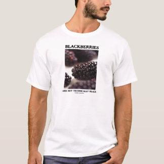 Blackberries Are Not Technically Black Food Humor T-Shirt