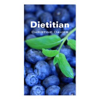 Blackberries dietitian business card