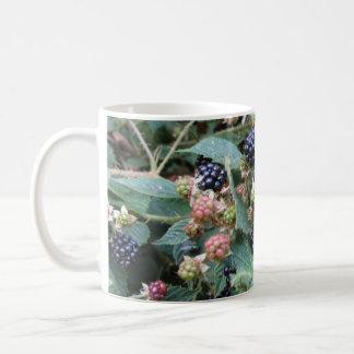 blackberries classic white coffee mug