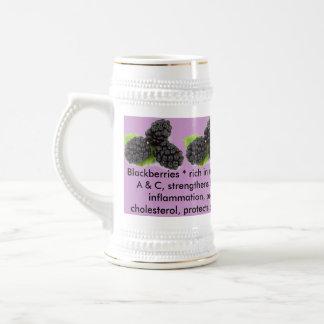 Blackberries stein 18 oz beer stein