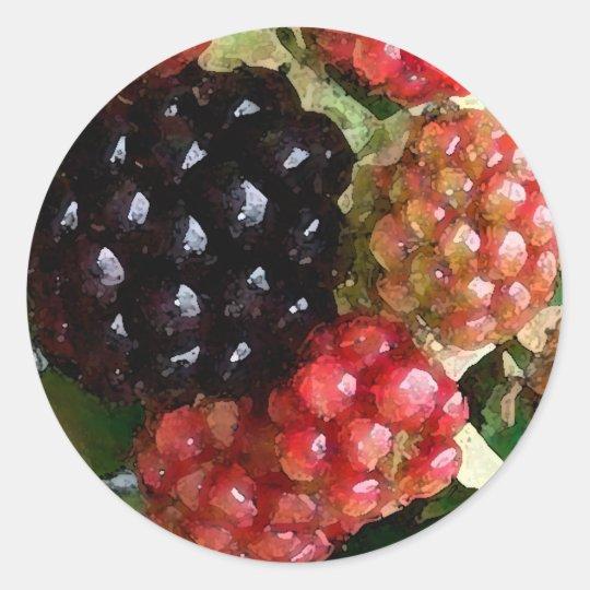 Blackberries Watercolor - sticker