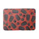 Blackberry and blackberry ice cream pattern bathroom mat