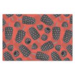 Blackberry and blackberry ice cream pattern tissue paper