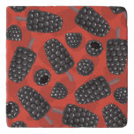 Blackberry and blackberry ice cream pattern trivet
