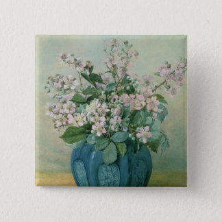 Blackberry Blossoms Pinback Button