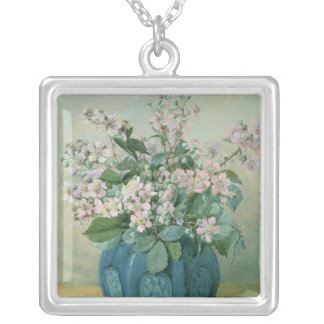 Blackberry Blossoms Silver Plated Necklace