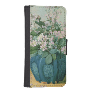 Blackberry Blossoms Wallet Phone Case For iPhone SE/5/5s