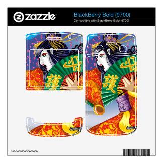 BlackBerry Bold 9700 Geisha Vinyl Skins BlackBerry Bold Skins