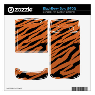 BlackBerry Bold 9700 Orange Tiger Stripes Vinyl Sk Skins For BlackBerry