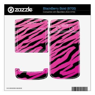 BlackBerry Bold 9700 Pink Tiger Stripes Vinyl Skin BlackBerry Decals