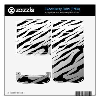 BlackBerry Bold 9700 White Tiger Stripes Vinyl Ski BlackBerry Decals