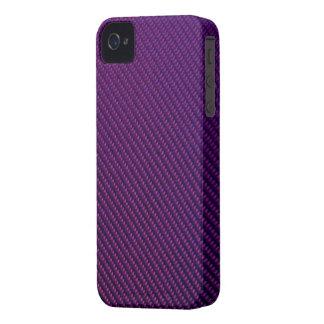 Blackberry Bold Case - Carbon Fiber - Purple iPhone 4 Case