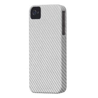 Blackberry Bold Case - Carbon Fiber - White