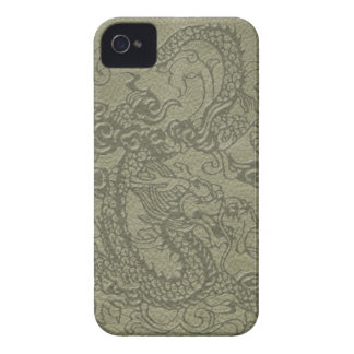 BlackBerry Bold Dragon on olive leather texture iPhone 4 Cover